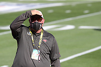 7th February 2021, Tampa Bay, Florida, USA;  Buccaneers head coach Bruce Arians looks on as he walks the field for pregame during Super Bowl LV between the Kansas City Chiefs and the Tampa Bay Buccaneers on February 07, 2021, at Raymond James Stadium