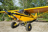 Small single engine airplane, Alaska, USA