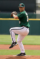 May 19, 2005:  Pitcher Jeremy Guthrie of the Buffalo Bisons during a game at Dunn Tire Park in Buffalo, NY.  Buffalo is the International League Triple-A affiliate of the Cleveland Indians.  Photo by:  Mike Janes/Four Seam Images
