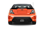 Straight rear view of a 2015 Scion tC Release Series 9.0 2 Door Coupe Rear View  stock images