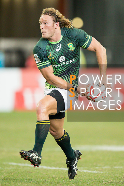 Werner Kok of South Africa runs with the ball during the match Fiji vs South Africa, Day 2 of the HSBC Singapore Rugby Sevens as part of the World Rugby HSBC World Rugby Sevens Series 2016-17 at the National Stadium on 16 April 2017 in Singapore. Photo by Victor Fraile / Power Sport Images