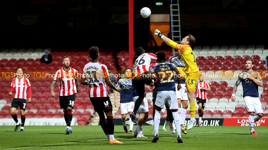 Barnsley goalkeeper, Jack Walton, punches the ball clear during Brentford vs Barnsley, Sky Bet EFL Championship Football at Griffin Park on 22nd July 2020
