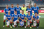 Rangers line up for their friendly match against Ottawa Fury at the JD Place in the Canadian capital