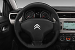 Car pictures of steering wheel view of a 2017 Citroen C-Elysee Live 4 Door Sedan Steering Wheel