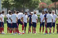 Frisco, Texas - Sunday, July 5, 2015: The USMNT train in preparation for 2015 Gold Cup vs Honduras at Toyota Soccer Complex.