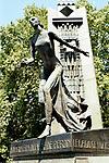 Eva Peron. A modern balletic statue of Evita in a public garden in the Recoleta area of Buenos Aires.