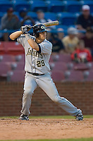 Jason Haniger #29 of the Georgia Tech Yellow Jackets at bat versus the Wake Forest Demon Deacons at Wake Forest Baseball Park April 18, 2009 in Winston-Salem, NC. (Photo by Brian Westerholt / Four Seam Images)