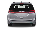 Straight rear view of 2021 Chrysler Pacifica Touring-L 5 Door Minivan Rear View  stock images