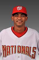 14 March 2008: ..Portrait of Edulin Abreu, Washington Nationals Minor League player at Spring Training Camp 2008..Mandatory Photo Credit: Ed Wolfstein Photo