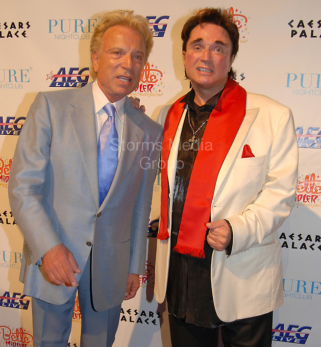 """LAS VEGAS - FEBRUARY 20,2008: Siegfried Fischbacher and Roy Horn arrive at the Grand Opening of Bette Midler's """"The Showgirl Must Go On"""" at Caesars Palace February 20, 2008 - <br /> <br /> People:  Siegfried Fischbacher, Roy Horn"""