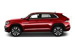 Car Driver side profile view of a 2021 Volkswagen Atlas-Cross-Sport SEL-R-Line 5 Door SUV Side View