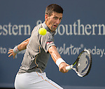 Novak Djokovic (SRB) defeats Benoit Paire (FRA), 7-5, 6-2 at the Western and Southern Open in Mason, OH on August 19, 2015.