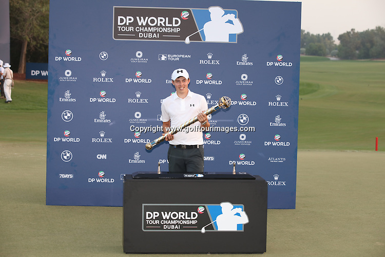 Matthew Fitzpatrick (ENG) is the 2016 DP World Tour Champion. The season ending event was played over the Earth Course at Jumeirah Golf Estates, Dubai, UAE: Picture Stuart Adams, www.golftourimages.com: 1/1/00