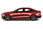 Car driver side profile view of a 2019 Volvo S60 R-Design 4 Door Sedan