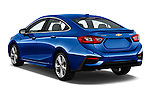 Car pictures of rear three quarter view of 2018 Chevrolet Cruze Premier 4 Door Sedan Angular Rear