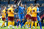 Motherwell v St Johnstone.....16.04.11  Scottish Cup Semi-Final.Danny Invincibile reacts to his bad missed chance.Picture by Graeme Hart..Copyright Perthshire Picture Agency.Tel: 01738 623350  Mobile: 07990 594431