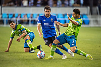 SAN JOSE, CA - MAY 12: Eric Remedi #5 of the San Jose Earthquakes controls the ball during a game between San Jose Earthquakes and Seattle Sounders FC at PayPal Park on May 12, 2021 in San Jose, California.