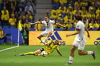 LE HAVRE, FRANCE - JUNE 20: Kelley O'Hara #5, Kosovare Asllani #9 during a 2019 FIFA Women's World Cup France group F match between the United States and Sweden at Stade Océane on June 20, 2019 in Le Havre, France.
