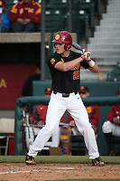 John Thomas #25 of the Southern California Trojans bats against the Coppin State Eagles at Dedeaux Field on February 18, 2017 in Los Angeles, California. Southern California defeated Coppin State, 22-2. (Larry Goren/Four Seam Images)