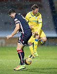 Ross County v St Johnstone…27.12.17…  Global Energy Stadium…  SPFL<br />Chris MIllar collides with Chris Routis<br />Picture by Graeme Hart. <br />Copyright Perthshire Picture Agency<br />Tel: 01738 623350  Mobile: 07990 594431