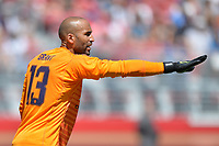 Santa Clara, CA - Sunday July 22, 2018: Lee Grant during a friendly match between the San Jose Earthquakes and Manchester United FC at Levi's Stadium.