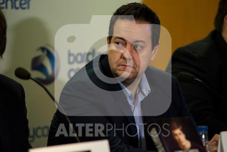 "Periodist Antoni Daimiel during the presentation of the book ""Carmelo Cabrera, El globertrotter blanco"" at Barclaycard Center in Madrid, March 01, 2016<br /> (ALTERPHOTOS/BorjaB.Hojas"