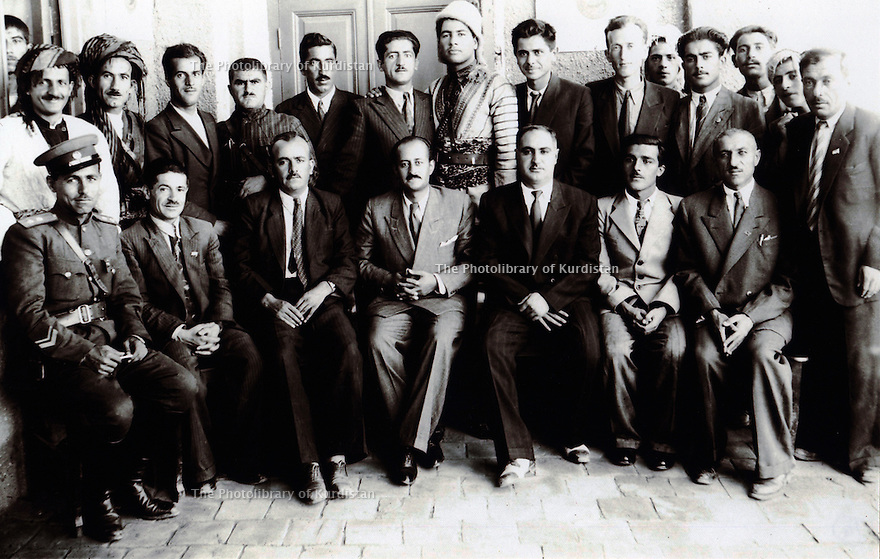Iran 1946 Members of government, Republic of Kurdistan in Mahabad.<br />