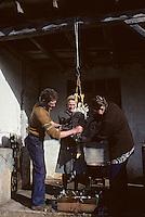 Europe/France/Midi-Pyrénées/46/Lot/Haut-Quercy/Env Salviac: Plumaison de l'oie<br /> PHOTO D'ARCHIVES // ARCHIVAL IMAGES<br /> FRANCE 1980