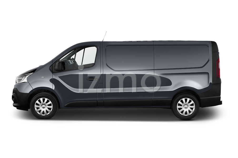 Car driver side profile view of a 2020 Renault Trafic Grand-Confort 4 Door Cargo Van