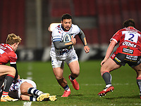 12th February 2021; Kingsholm Stadium, Gloucester, Gloucestershire, England; English Premiership Rugby, Gloucester versus Bristol Bears; Alapati Leiua of Bristol Bears makes a break
