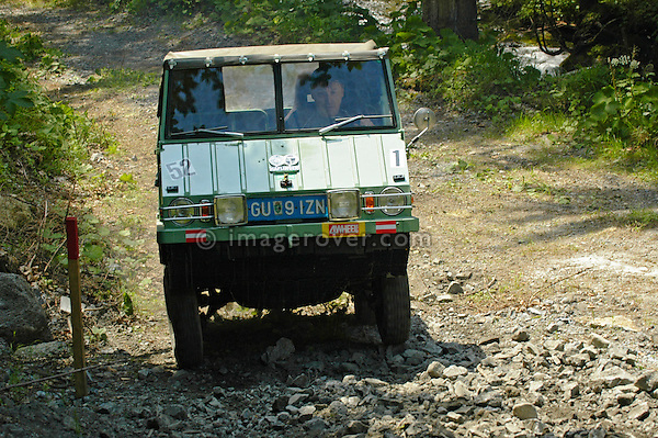 Austria, Boesenstein Offroad Classic, Hohentauern, Steiermark, 25-26.06.2005. Steyr Puch Haflinger. --- No releases available. Automotive trademarks are the property of the trademark holder, authorization may be needed for some uses.