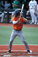 Griffin Paxton (22) of the UTSA Roadrunners at bat against the Charlotte 49ers at Hayes Stadium on April 18, 2021 in Charlotte, North Carolina. (Brian Westerholt/Four Seam Images)