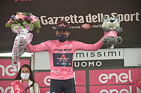 22th May 2021, Cittadella, Padua, Italy; Giro D Italia stage 14, Cittadella to Monte Zoncolan; IneGrenadiers Bernal Gomez, Arley with tour leaders jersey in Monte Zoncolan