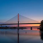 Toledo Veteran's Glass City Skyway Bridge Light Installation