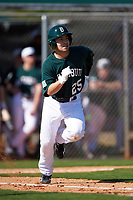 Dartmouth Big Green third baseman Justin Fowler (25) during a game against the Villanova Wildcats on February 27, 2016 at South Charlotte Regional Park in Punta Gorda, Florida.  Villanova defeated Dartmouth 14-1.  (Mike Janes/Four Seam Images)