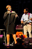 Vocalist Dianne Reeves in concert at Blanche M. Touhill Performing Arts Center at University of Missouri in St. Louis on Nov 6, 2011.