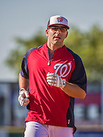 9 March 2014: Washington Nationals infielder Danny Espinosa runs bases prior to a Spring Training game against the St. Louis Cardinals at Space Coast Stadium in Viera, Florida. The Nationals defeated the Cardinals 11-1 in Grapefruit League play. Mandatory Credit: Ed Wolfstein Photo *** RAW (NEF) Image File Available ***