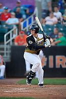 Aberdeen IronBirds Adley Rutschman (35) at bat during a NY-Penn League game against the Vermont Lake Monsters on August 18, 2019 at Leidos Field at Ripken Stadium in Aberdeen, Maryland.  Vermont defeated Aberdeen 6-5.  (Mike Janes/Four Seam Images)