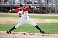 July 6, 2008: Everett AquaSox righthander Steven Hensley toes the rubber against the Yakima Bears at Everett Memorial Stadium in Everett, Washington.