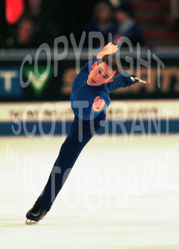 Dan Hollander USA figure skater competes at Skate Canada. Photo copyright Scott Grant.