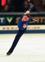 Dan Hollander USA figure skater competes at Skate Canada. Photo copyright Scott Grant.
