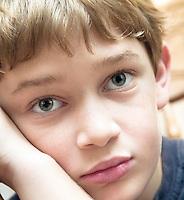 Sad boy.<br />