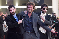 Maurizio Lastrico, Damiano D'Innocenzo and Fabio D'Innocenzo attending the America Latina Premiere as part of the 78th Venice International Film Festival in Venice, Italy on September 09, 2021. <br /> CAP/MPI/IS/PAC<br /> ©PAP/IS/MPI/Capital Pictures