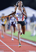 May 25, 2013: Regina George #101 of Arkansas competes in 4x400 relay quarterfinal during NCAA Outdoor Track & Field Championships West Preliminary at Mike A. Myers Stadium in Austin, TX.