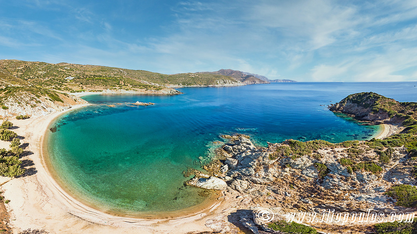 The beach Stomio in Evia, Greece