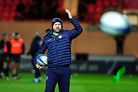 Head Coach Geordan Murphy of Leicester Tigers during the pre match warm up for the Heineken Champions Cup round 5 match between the Scarlets and Leicester Tigers at the Parc Y Scarlets Stadium in Llanelli, Wales, UK. Saturday 12th January 2019