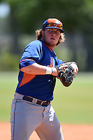 New York Mets Dash Winningham (35) during practice before a minor league spring training game against the Miami Marlins on March 30, 2015 at the Roger Dean Complex in Jupiter, Florida.  (Mike Janes/Four Seam Images)