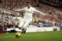 Barclays Premier League, West Ham United (red)V Swansea City Fc (white), Boelyn Ground, 02/02/13<br /> Pictured: Swans winger Pablo Hernandez<br /> Picture by: Ben Wyeth / Athena Picture Agency<br /> info@athena-pictures.com