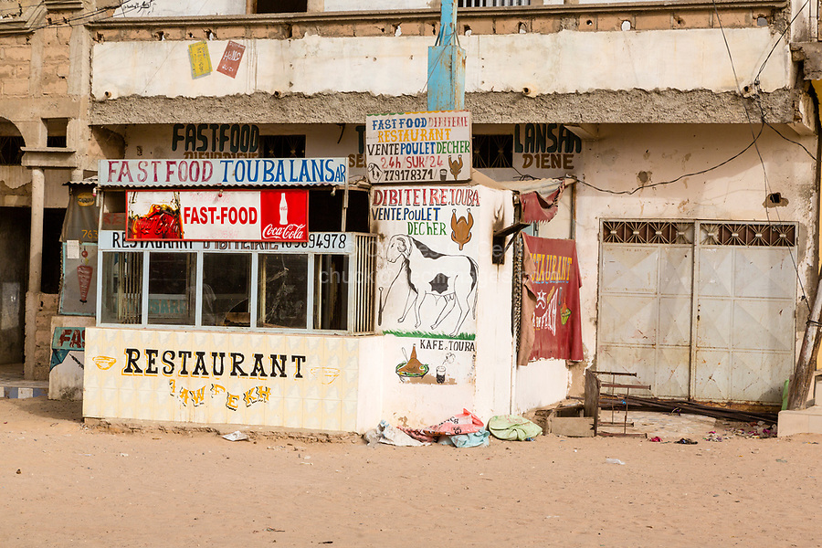 Senegal, Touba.  Fast Food Restaurant.