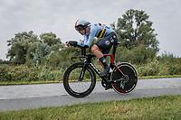 Florian Vermeersch (BEL/Lotto Soudal)<br /> <br /> 88th UCI Road World Championships 2021 – ITT (WC)<br /> Men's U23 Time trial from Knokke-Heist to Brugge (30.3km)<br /> <br /> ©Kramon